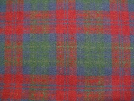Wool Rich Plaid Tartan Fabric BZ15